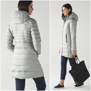 RARE Lululemon Brave The Cold Jacket Silver White